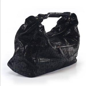 Lola Bernard Bags - Lola Bernard Shimmer Hobo Black Bag